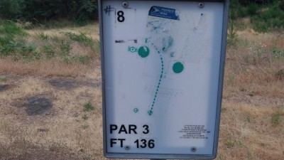 Hood River DGC, Main course, Hole 8 Hole sign