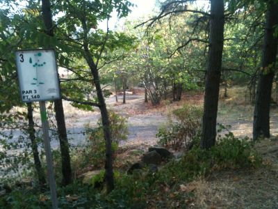 Hood River DGC, Main course, Hole 3 Tee pad