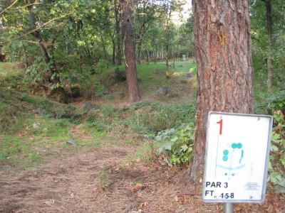 Hood River DGC, Main course, Hole 1 Hole sign
