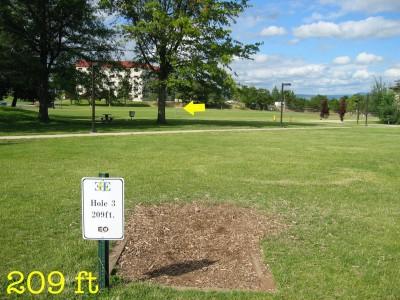 Eastern Oregon University, Main course, Hole 3 Tee pad