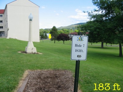 Eastern Oregon University, Main course, Hole 7 Tee pad