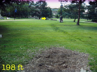 Eastern Oregon University, Main course, Hole 9 Tee pad