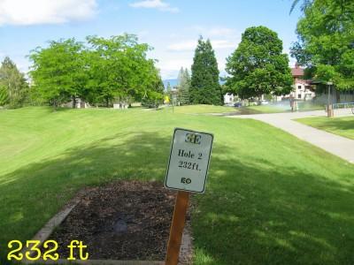 Eastern Oregon University, Main course, Hole 2 Tee pad