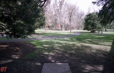 Wortman Park, Main course, Hole 7 Tee pad