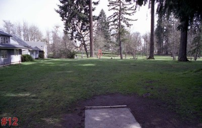 Wortman Park, Main course, Hole 12 Tee pad