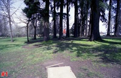 Wortman Park, Main course, Hole 1 Tee pad
