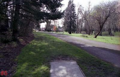 Wortman Park, Main course, Hole 5 Tee pad
