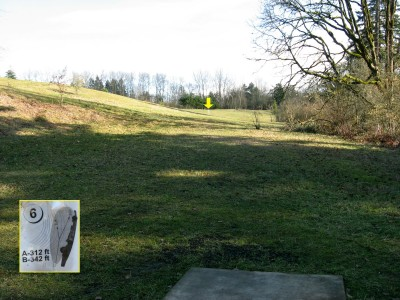 Ewing Young, Main course, Hole 6 Tee pad