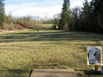 Ewing Young, Main course, Hole 5 Tee pad