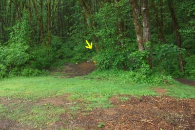 Horning's Hideout, Canyon Course, Hole 3 Midrange approach