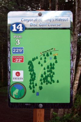 Horning's Hideout, Canyon Course, Hole 14 Hole sign