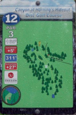 Horning's Hideout, Canyon Course, Hole 12 Hole sign