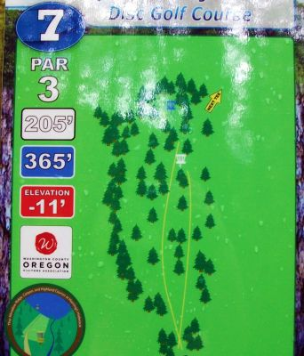 Horning's Hideout, Canyon Course, Hole 7 Hole sign