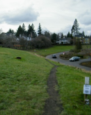 Portland Lunchtime DGC, Main course, Hole 14 Tee pad