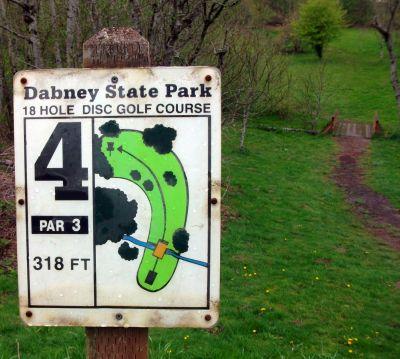 Dabney State Park, Main course, Hole 4 Hole sign