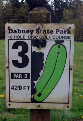 Dabney State Park, Main course, Hole 3 Hole sign