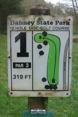 Dabney State Park, Main course, Hole 1 Hole sign
