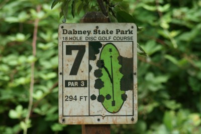 Dabney State Park, Main course, Hole 7 Tee pad