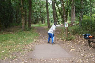 Dabney State Park, Main course, Hole 15 Tee pad