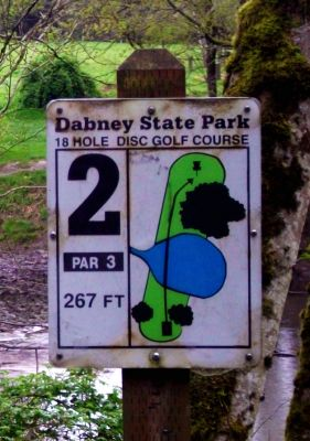 Dabney State Park, Main course, Hole 2 Hole sign