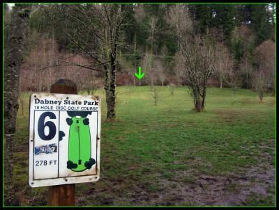 Dabney State Park, Main course, Hole 6 Tee pad