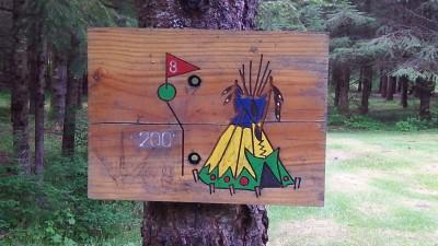 Camp Dakota, Main course, Hole 8 Hole sign