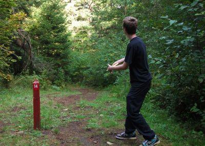 Camp Dakota, Main course, Hole 14 Tee pad