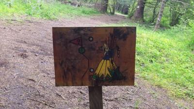 Camp Dakota, Main course, Hole 9 Hole sign
