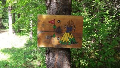 Camp Dakota, Main course, Hole 5 Hole sign