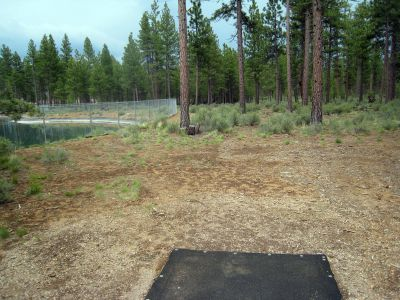 Hyzer Pines at S.O.A.R., Main course, Hole 14 Tee pad