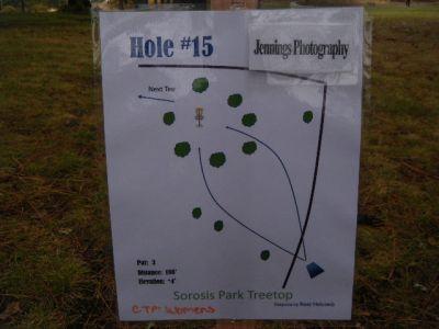 Tree Top DGC at Sorosis Park, Main course, Hole 15 Hole sign