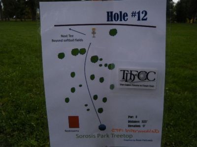 Tree Top DGC at Sorosis Park, Main course, Hole 12 Hole sign