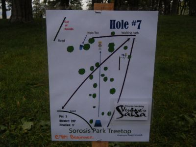 Tree Top DGC at Sorosis Park, Main course, Hole 7 Hole sign