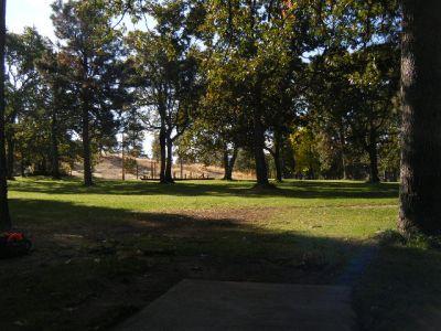 Tree Top DGC at Sorosis Park, Main course, Hole 18 Tee pad