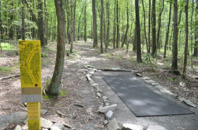 French Creek State Park, Pleasure Mountain, Hole 5 Tee pad