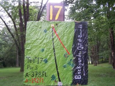 Creekside, Main course, Hole 17 Hole sign