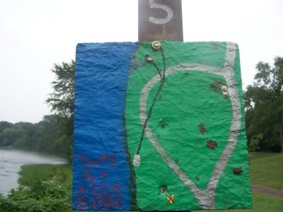 Creekside, Main course, Hole 5 Hole sign