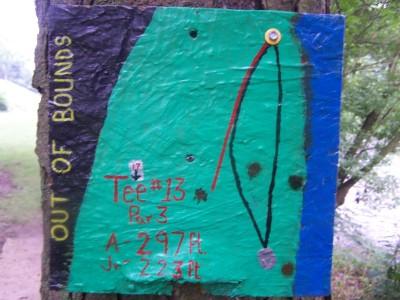 Creekside, Main course, Hole 13 Hole sign