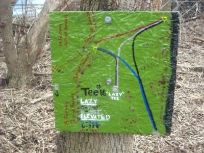 Creekside, Main course, Hole 16 Hole sign