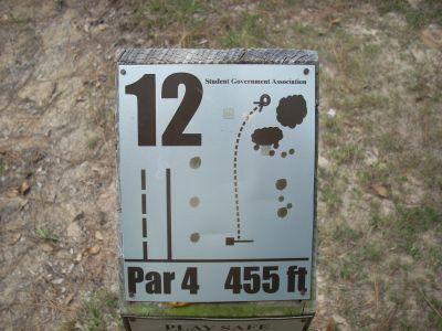 University of South Alabama, Main course, Hole 12 Hole sign