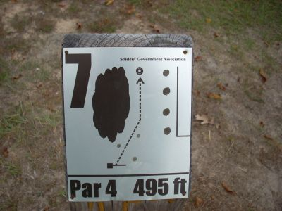 University of South Alabama, Main course, Hole 7 Hole sign