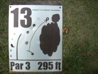 University of South Alabama, Main course, Hole 13 Hole sign