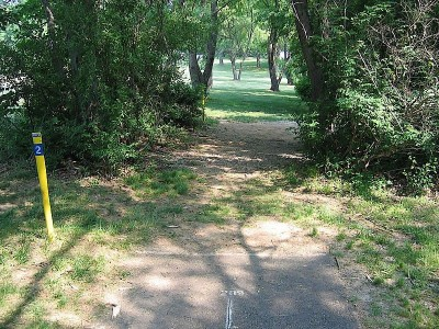 Codorus State Park, Blue course, Hole 2 Long tee pad