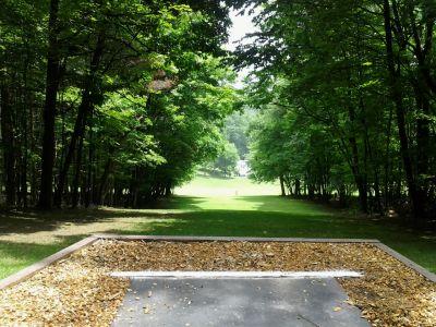 IUP College Lodge, Main course, Hole 8 Short tee pad