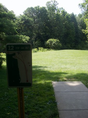 D. F. Buchmiller Park, Main course, Hole 12 Hole sign