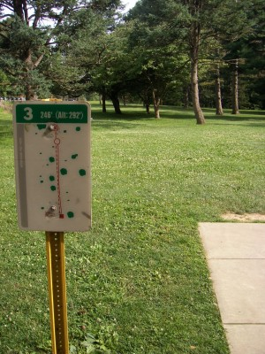 D. F. Buchmiller Park, Main course, Hole 3 Hole sign