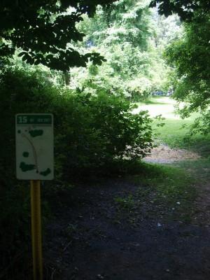 D. F. Buchmiller Park, Main course, Hole 15 Hole sign