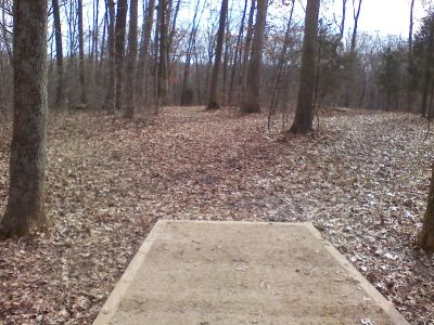 Gifford Pinchot State Park, Boulder Woods, Hole 17 Tee pad