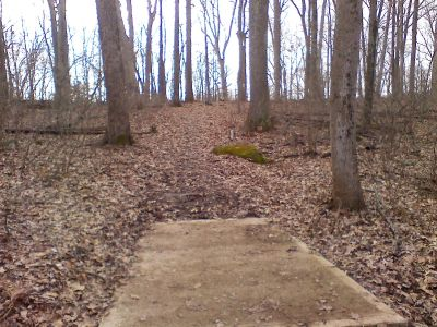 Gifford Pinchot State Park, Boulder Woods, Hole 11 Tee pad