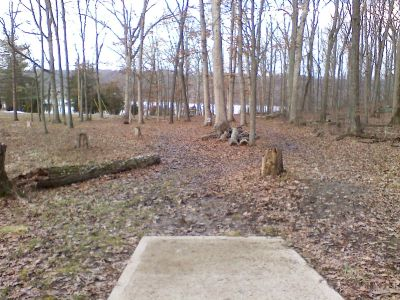 Gifford Pinchot State Park, Boulder Woods, Hole 6 Tee pad